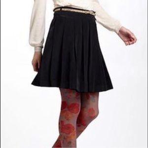 Anthro Meadow Rue Black Pleated Skirt